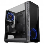 Кейс, Thermaltake, View 37 (CA-1J7-00M1WN-00), ATX/Micro ATX, USB23.0, HD-Audio+Mic, Контроллер , Кулер 12см, Кулер 12см LED, Без Б/П, Чёрный