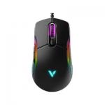 Компьютерная мышь, Rapoo, VT200, Игровая, Оптическая, Проводная, USB, 6200 dpi, Длина кабеля 1.8м, LED подсветка, Черный