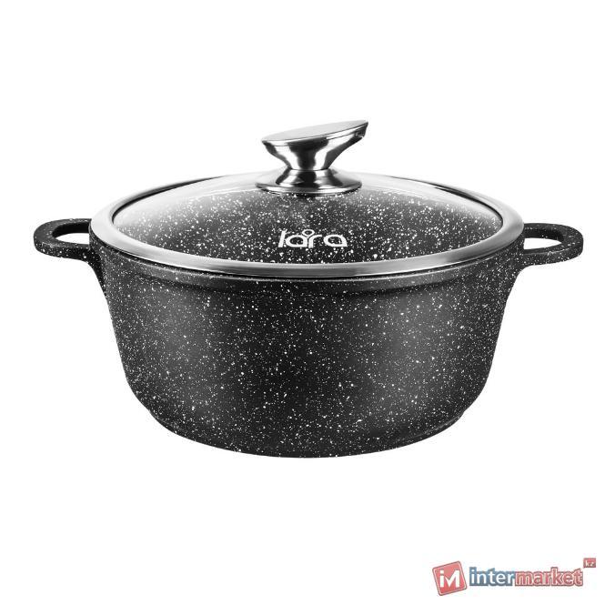 Кастрюля LARA LR02-201 RIO CHOCO 16 х 7.5 см, 1,3л